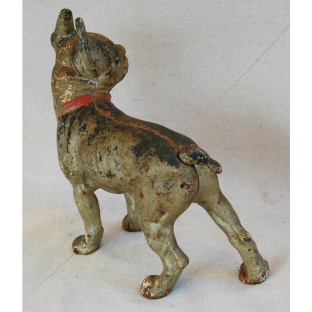 1940s Cast Iron Boston Terrier Dog Doorstop - Image 8 of 9