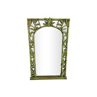 Green Serge Roche-Style Palm Bamboo Mirror
