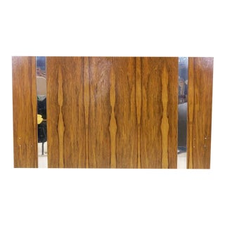Milo Baughman for Thayer Coggin Rosewood with Chrome Trim Queen Size Headboard