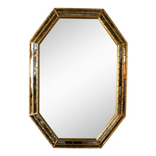 Vintage La Barge Faux Bamboo Gold Gilt Mirror