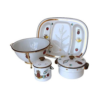 Georges Briard Enamelware Set - 7 Pcs