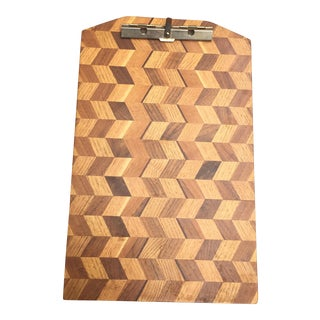 Chevron Herringbone Wood Clipboard