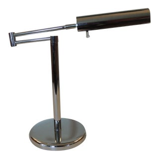Mid-Century Modern Swim-Arm Polished Chrome Desk Lamp