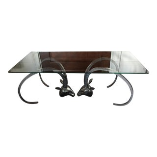 Ibex Aluminum Rams Head Coffee Table