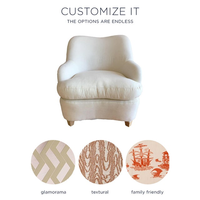 """""""Rounded"""" Chair + Custom Upholstery Service - Image 2 of 6"""