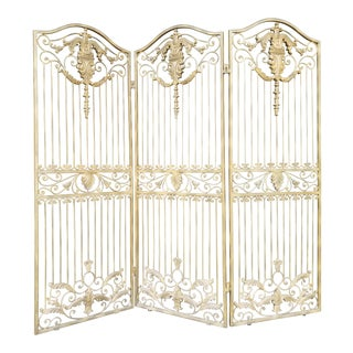 Victorian Gold Iron Room Divider