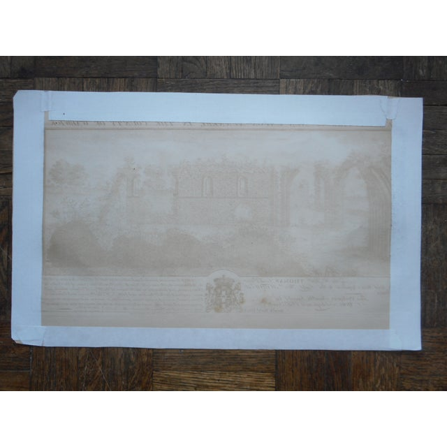 Image of Antique Folio Size Architectural Engraving