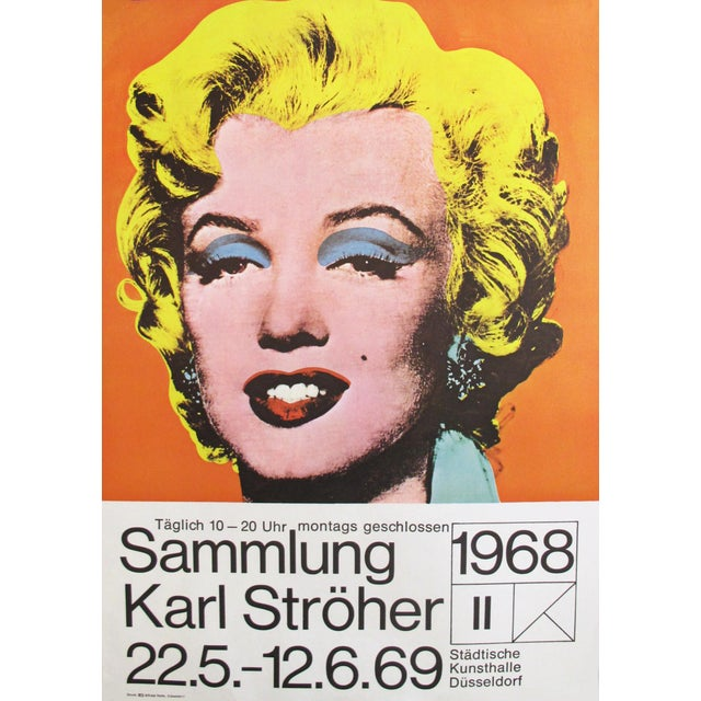 1969 Marilyn Monroe Pop Art Poster by Andy Warhol - Image 2 of 4