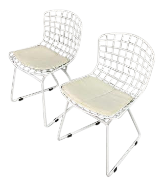 Harry Bertoia For Knoll Childrenu0027s Wire Side Chairs   A Pair
