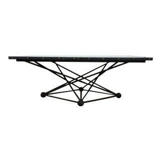 Vintage Atomic Base Zinc Top Dining Table