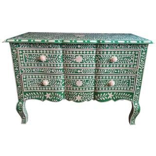 Green Bone Inlay Dresser