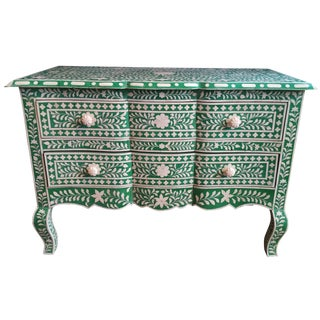 Green Bone Inlay Dresser