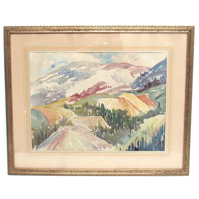Colorado Mountain Scene by Muriel Sibell Wolle - Image 1 of 5