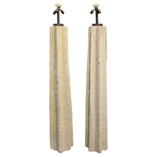 Ron Mann Cast Floor Lamps - A Pair
