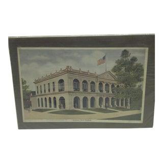 "Vintage ""Louisiana State Building"" Print"