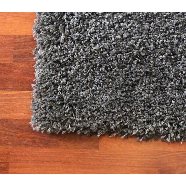"Dark Gray and Charcoal Shag Rug - 5'4 ""x7'8'' - Image 3 of 6"