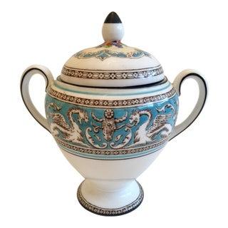 Wedgwood Turquoise Florentine Sugar Bowl