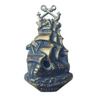 1930'S Brass Galleon Door Knocker