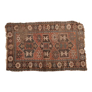 "Antique Caucasian Rug - 3'8"" x 5'10"""