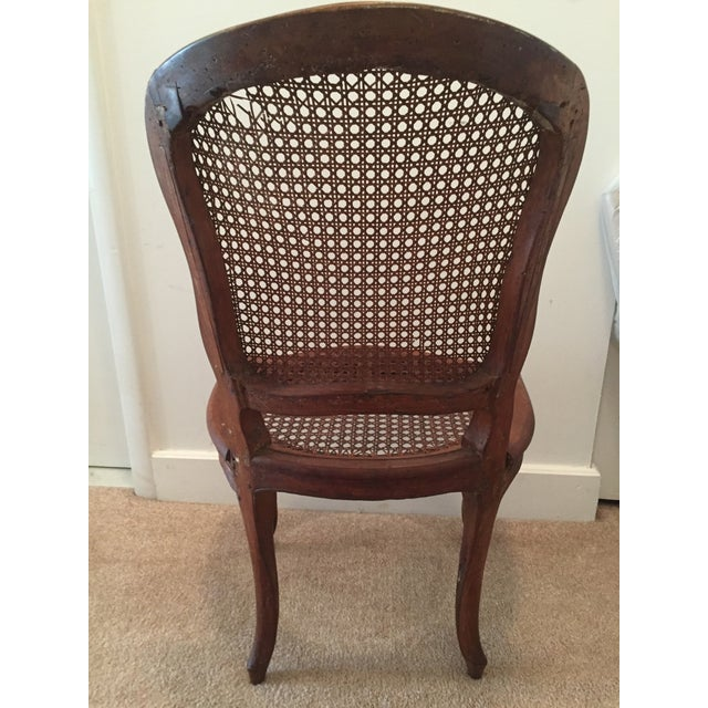 Antique French Hand-Carved Caned Side Chair - Image 6 of 8