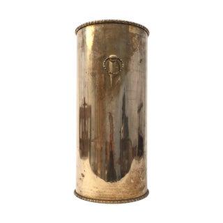 Hollywood Regency Vintage Brass Umbrella Holder
