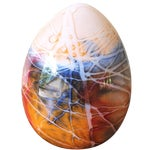Image of Mid Century Blown Glass Egg Paperweight