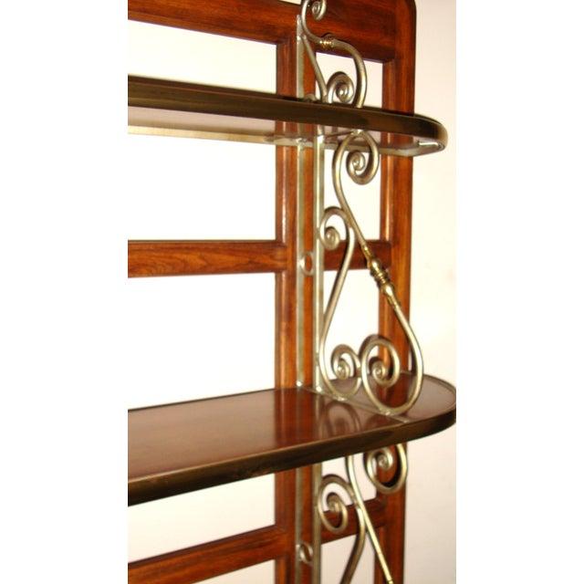 Vintage Brass Pecan Drexel Shelf - Image 5 of 8