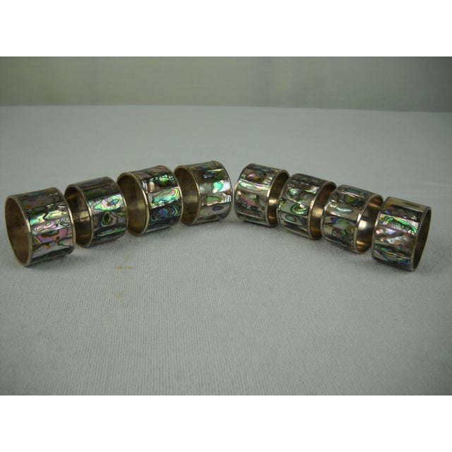 Abalone Shell Napkin Rings - Set of 8 - Image 8 of 8