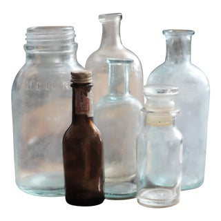 Antique Apothecary & Condiment Bottles