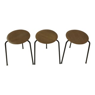 Danish Dot Stools in the Style of Arne Jacobsen - Set of 3