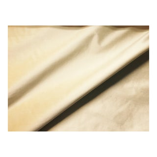 Knit Backed Light Yellow Silk