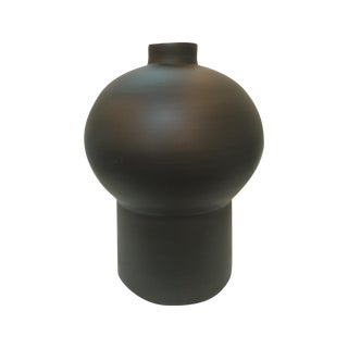 Rina Menardi Italian Black Royal Maxi Queen Vase
