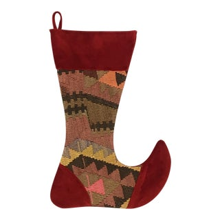 Large Kilim Christmas Stocking | Merry