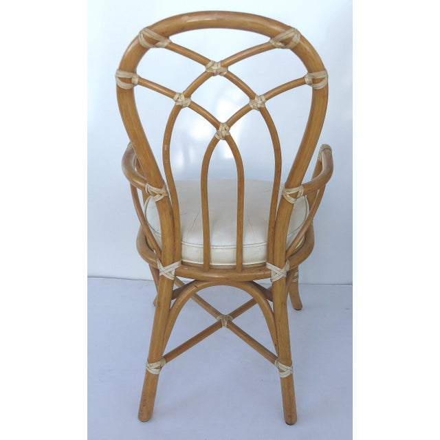Image of McGuire Rattan Dining Chairs - Set of 6