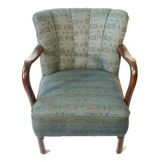 Antique Danish Art Deco Lounge Chair