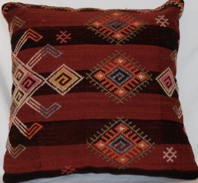 Handmade Vintage Throw Pillows : Vintage Handmade Wool Decorative Boho Pillow Chairish