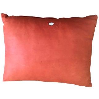 Orange Cowhide Pillow