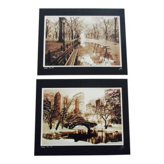 Dmitriy Bukhonko NYC Central Park Sepia Prints- Set of 2
