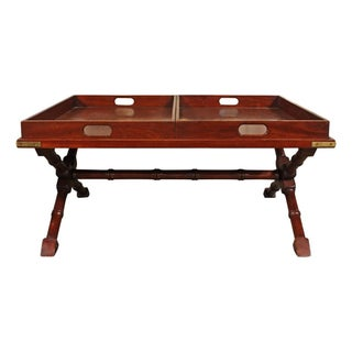 Ralph Lauren Cherry Wood Tray Coffee Table