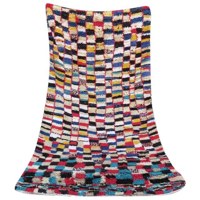"Checkered Beni Ourain Rug - 5'4"" X 9'4"""