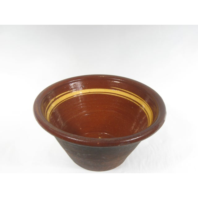 French Earthenware Brown Glazed Bowl - Image 3 of 7