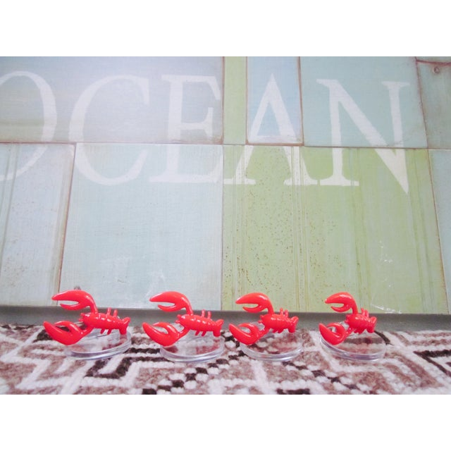 Lobster Lucite Place Card Holders - Set of 4 - Image 5 of 7