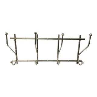 Nickel Faux Bamboo Coat Rack