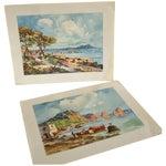 Image of Vintage Italian Coastal Print - A Pair