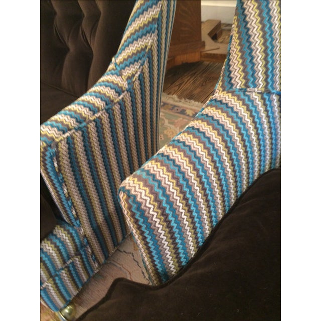 Vintage Reupholstered Club Chairs - A Pair - Image 9 of 9