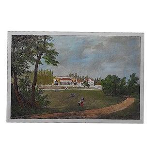 Antique Chateaux De France Lithograph
