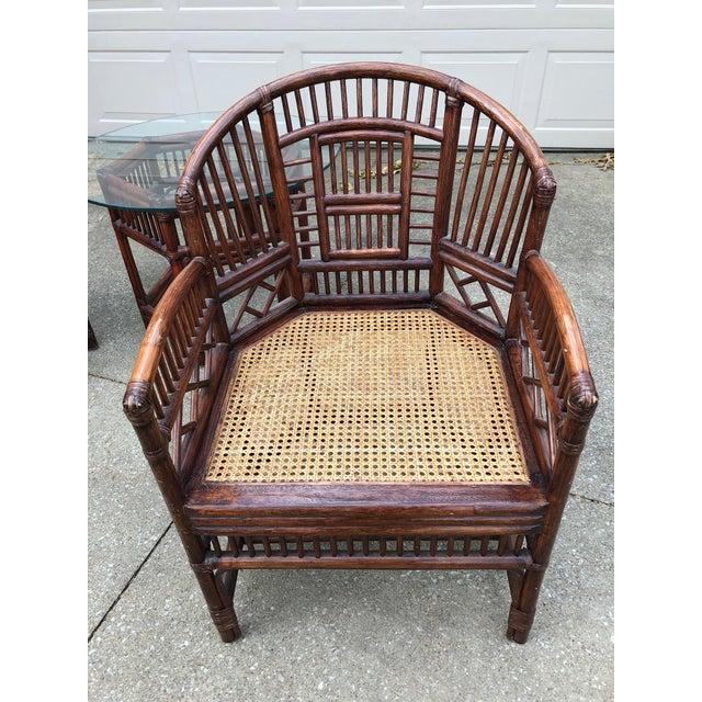 Vintage Brighton Bamboo Wicker Furniture Sofa - Set of 3 - Image 3 of 11