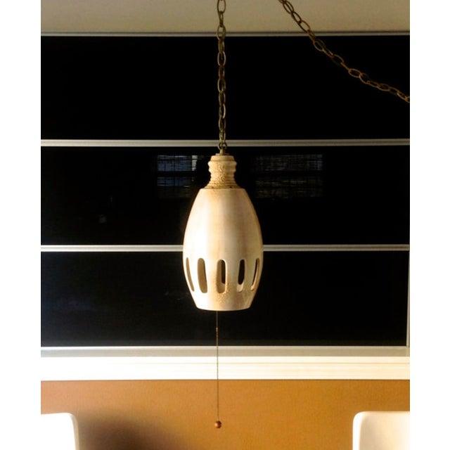 Mid Century Orb Lamp: Mid-Century Ceramic Orb Hanging Lamp