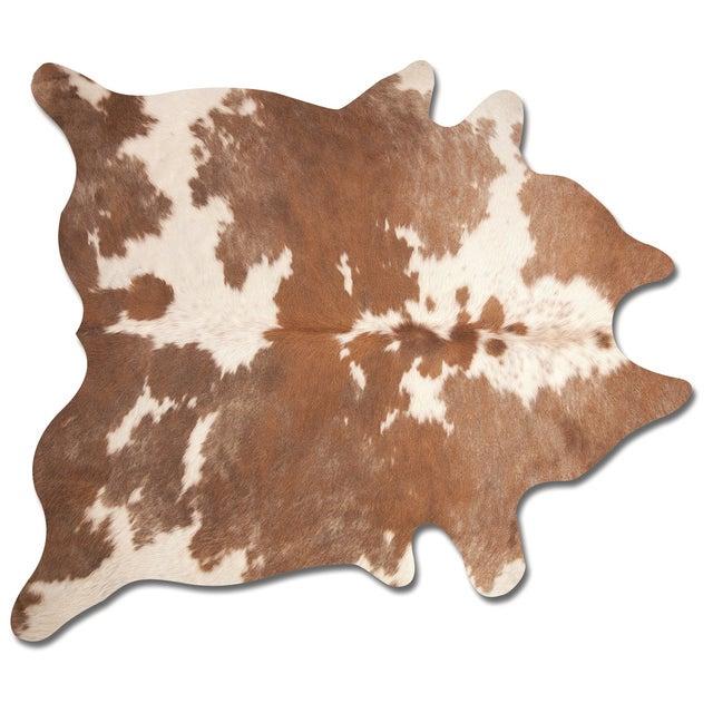 Brown & White Cowhide Rug - 6' X 7' - Image 1 of 2
