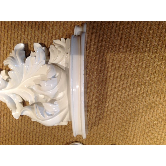 White Rococco-Style Wall Shelves - A Pair - Image 5 of 5